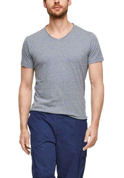 s.Oliver V-Shirt meliert