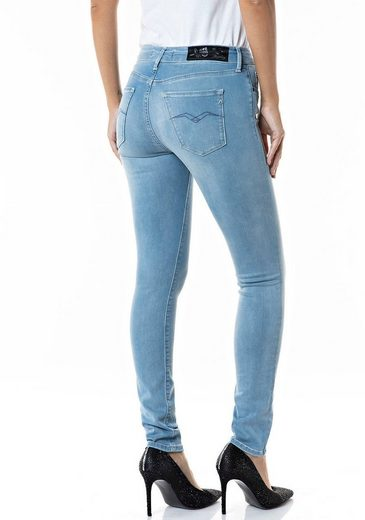 Replay Skinny-fit-Jeans hochwertige Denim-Qualität mit Elasthan