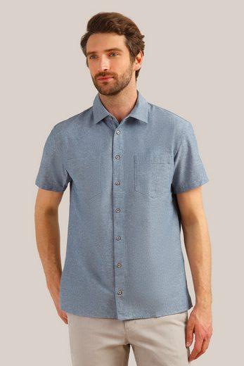 Schlussverkauf Finn Flare Kurzarmhemd mit feiner Knopfleiste