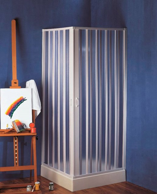 Duschen und Zubehör - Forte Eckdusche »Bari«, BxT 80x80 cm, Kunststoff, extra großer Einstieg, im Faltsystem  - Onlineshop OTTO