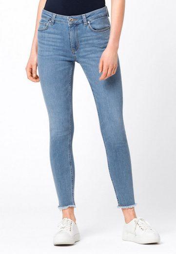 HALLHUBER Regular-fit-Jeans »MIA aus Candiani Denim mit Fransensaum«