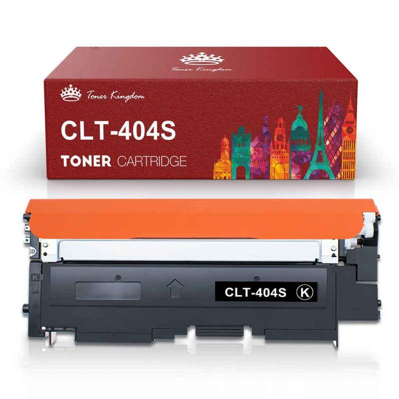 Toner Kingdom Tonerpatrone »kompatibler für Samsung CLT-404S CLT-P404C«, (Einzelpackung CLT-K404S CLT-C404S CLT-M404S CLT-Y404S Tonerkartusche), Mit Chip, Hohe Seitenleistung