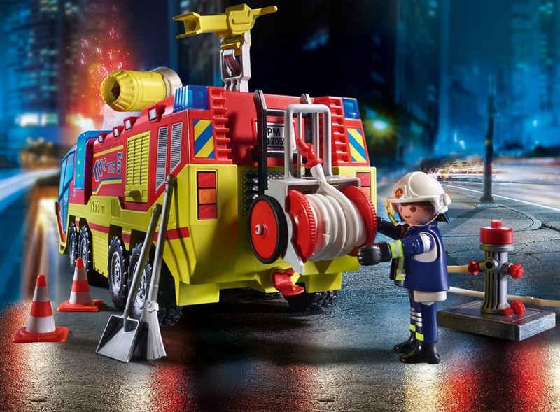 Playmobil® Konstruktions-Spielset »Feuerwehreinsatz mit Löschfahrzeug (70557), City Action«, (189 St), mit Licht- und Soundfunktion