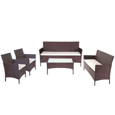 MCW Sitzgruppe »Hamar-P3«, Sehr breite Sitzflächen, Stabile Glasplatte, Wasserabweisende Bezüge, Kissenbezug mit Reißverschlus