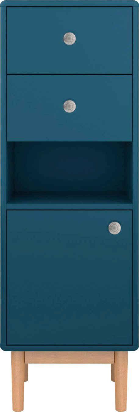 TOM TAILOR Unterschrank »COLOR BATH« mit 1 Tür & 2 Schubladen, mit Push-to-Open, mit Füßen in Eiche geölt, Breite 40 cm