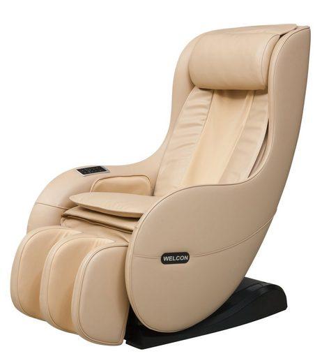 WELCON Massagesessel »WELCON Massagesessel EASYRELAXX in beige, braun, schwarz und rot - 3D Massagestuhl mit Neigungsverstellung elektrisch«