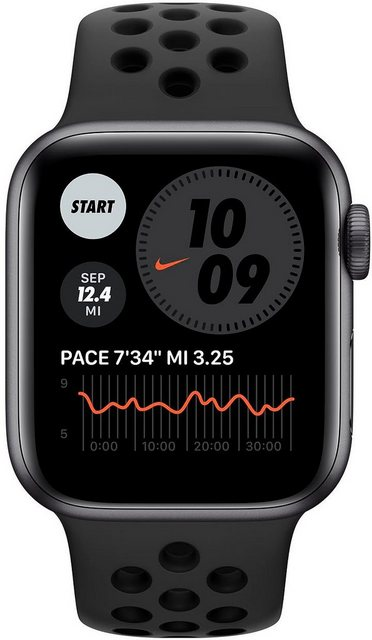 Smartwatches - Apple Nike Series 6 GPS Cellular, Aluminiumgehäuse mit Nike Sportarmband 40mm Watch (Watch OS, inkl. Ladestation (magnetisches Ladekabel)  - Onlineshop OTTO