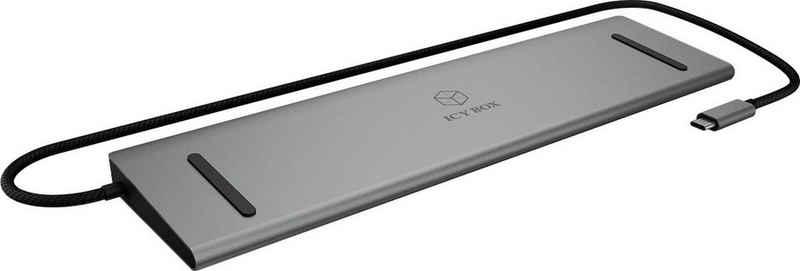 Raidsonic Laptop-Dockingstation »ICY BOX USB Type-C Notebook DockingStation mit dreifacher Videoausgabe«