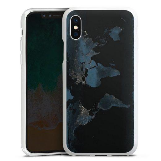 DeinDesign Handyhülle »Nightlight Worldmap« Apple iPhone X, Hülle Weltkarte Landkarte Nacht