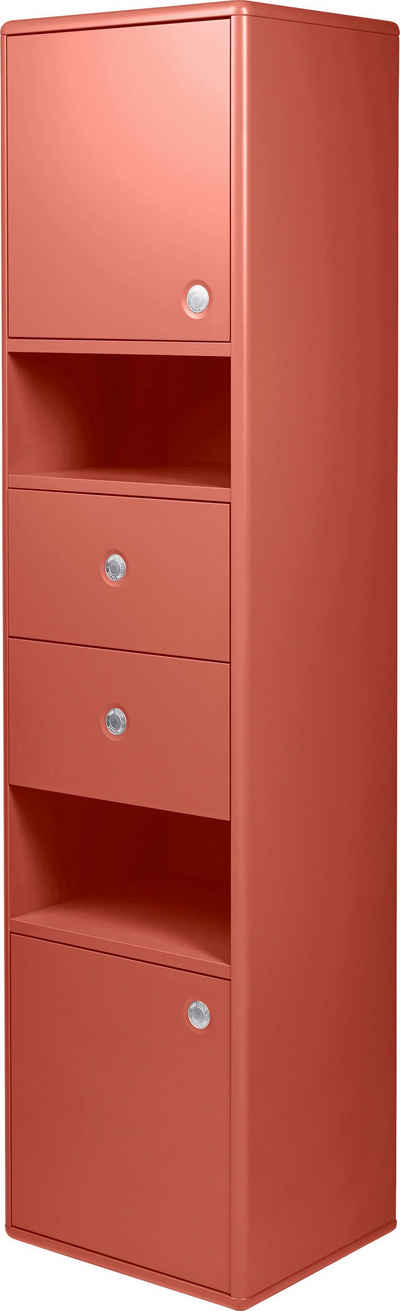 TOM TAILOR Hochschrank »COLOR BATH« mit 2 Türen & 2 Schubladen, mit Push-to-Open, Breite 40 cm