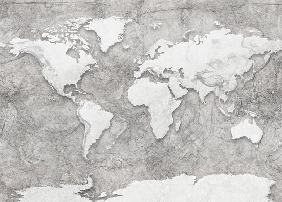 Komar Fototapete »World Relief«, glatt, bedruckt, Steinoptik