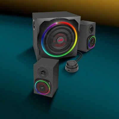 Speedlink GRAVITY CARBON RGB 2.1 Lautsprechersystem (Bluetooth, 120 W)