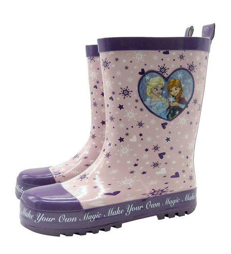 Disney Frozen Gummistiefel Mädchen Frozen Gr. 29/30 Anna Elsa Eiskönigin rosa Regenstiefel Stiefel Schuhe