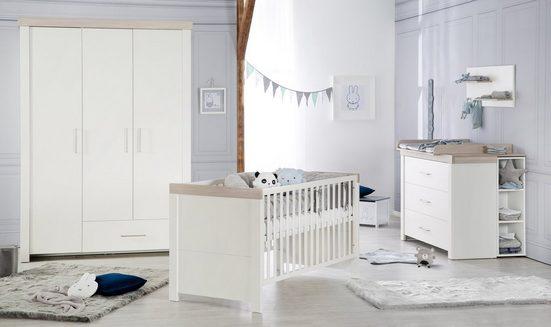 roba® Babyzimmer-Komplettset »Lucy«, (Set, 3-St), Made in Europe; mit Kinderbett, Schrank und Wickelkommode