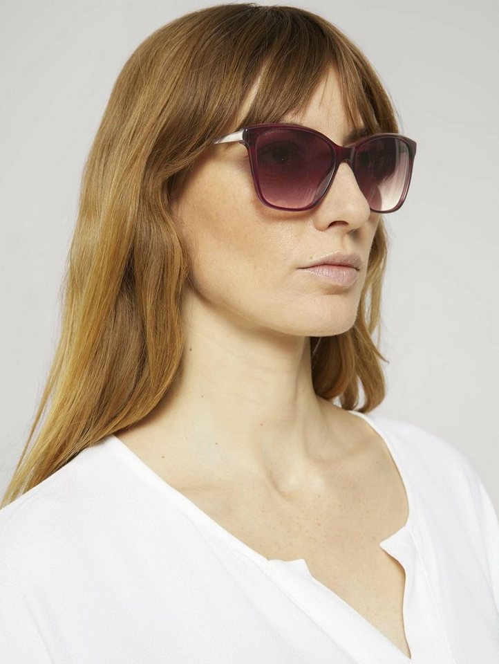 tom tailor -  Sonnenbrille »Wayfarer Sonnenbrille mit farbigem Rahmen«