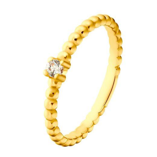 Heideman Perlenring »Elio goldfarbend« (1-tlg), Damenring für Frauen