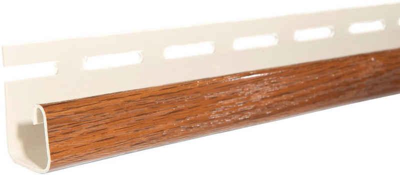Baukulit VOX Abschlussprofil »SOFFIT Nussbaum« (Set, 4er-Set), für Dachüberstand, je 1,525 m