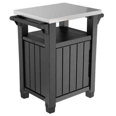 Keter Gartentisch »Keter Multifunktionaler Gartentisch für BBQ Unity Klassisch Holzoptik«