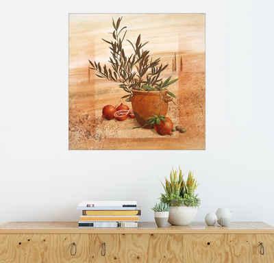 Posterlounge Wandbild, Granatapfel- und Oliven-Ernte