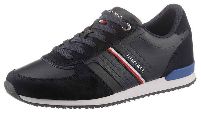 Tommy Hilfiger »ICONIC RUNNER LEATHER« Sneaker mit seitlichen Streifen