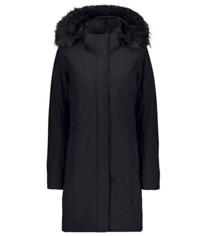 CAMPAGNOLO Outdoorjacke »Campagnolo Coat Zip Hood Parka klassischer Damen Winter-Mantel Mode-Jacke Anthrazit«