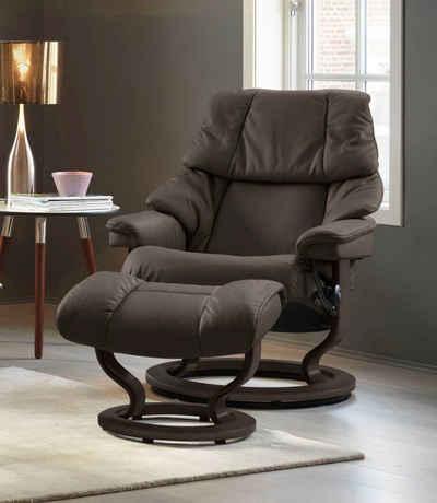 Stressless® Relaxsessel »Reno«, mit Classic Base, Größe S, M & L, Gestell Wenge