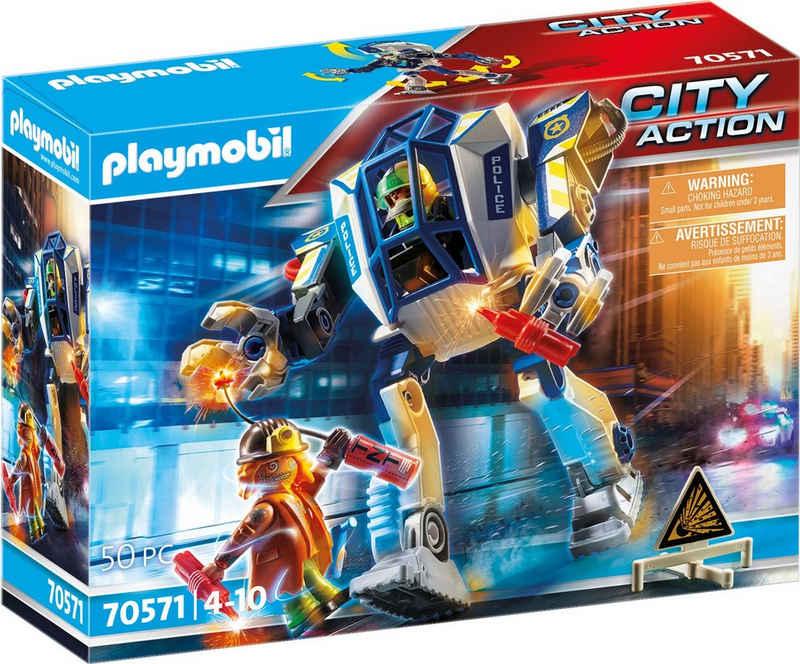 Playmobil® Konstruktions-Spielset »Polizei-Roboter: Spezialeinsatz (70571), City Action«, (50 St), Made in Germany