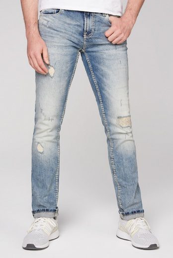 CAMP DAVID Regular-fit-Jeans mit Destroy-Effekte