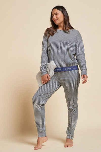 Next Pyjama »Pyjama aus Baumwolle mit sportlichen Streifen« (2 tlg)