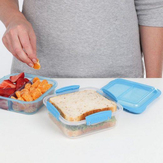 sistema Aufbewahrungsbox »Lunchbox Stack 1.24l, transparent-blau«, Kunststoff (lebensmittelsicher)