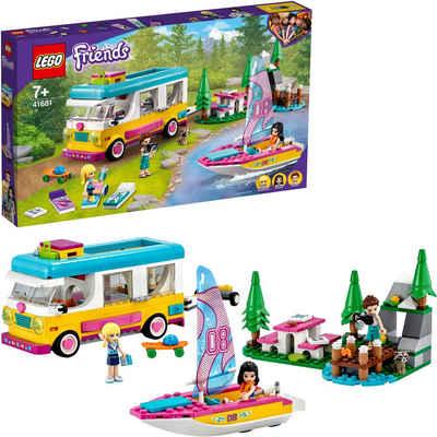 LEGO® Konstruktionsspielsteine »Wohnmobil- und Segelbootausflug (41681), LEGO® Friends«, (487 St), Made in Europe