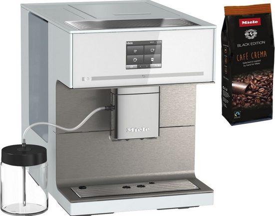 Miele Kaffeevollautomat CM7550 Brillantweiß, Appfähig