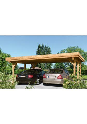 Kiehn-Holz Doppelcarport »Bochum« 198 cm Einfahrt...