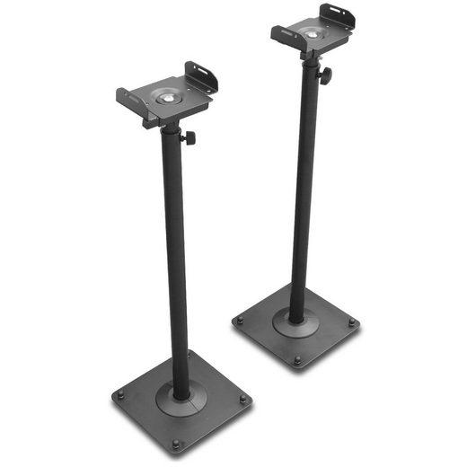 Drall Instruments »LS-1B« TV-Ständer, (2-tlg., Höhenverstellbar (Teleskop) von 66 cm bis auf 118 cm, neigbar, drehbar)