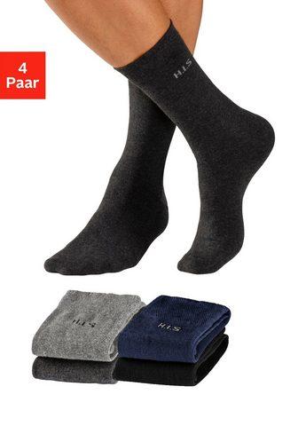 H.I.S Socken (4-Paar) su druckfreiem Bündche...