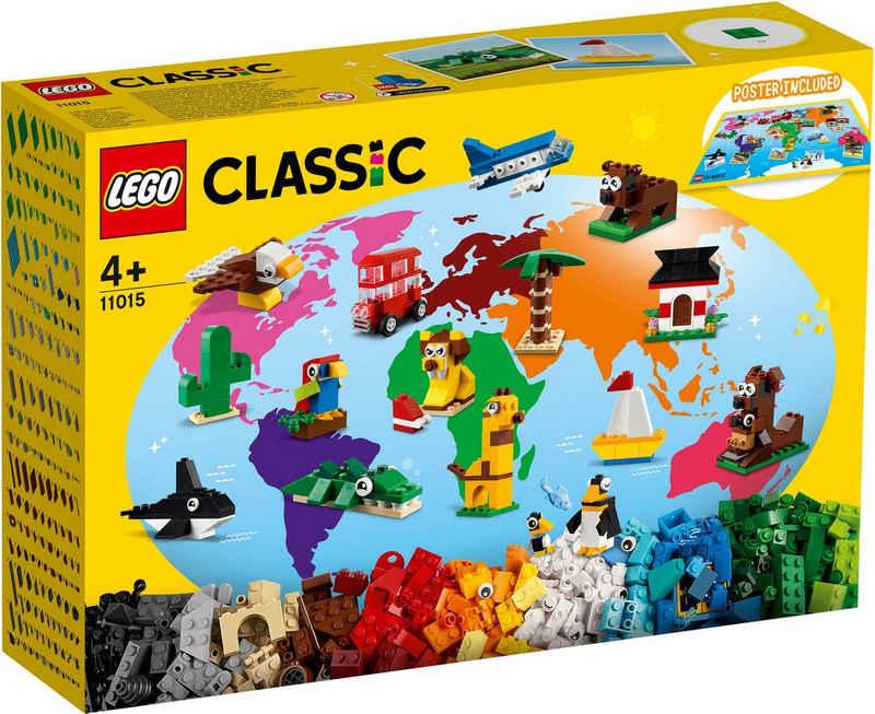 LEGO® Konstruktionsspielsteine »Einmal um die Welt (11015), LEGO® Classic«, (950 St), Made in Europe