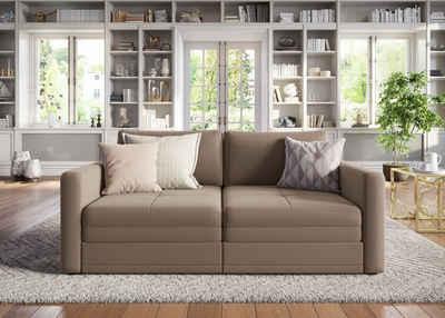 sit&more 2-Sitzer, wahlweise mit Bettfunktion