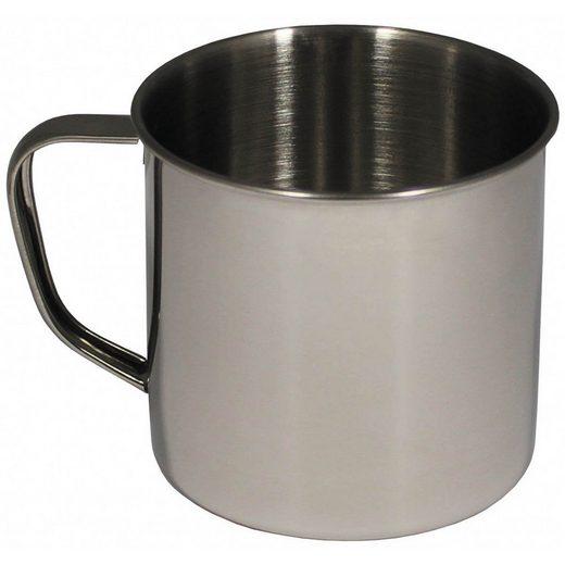 FoxOutdoor Tasse »Tasse, Edelstahl, einwandig, ca. 500 ml«, 100 % Edelstahl