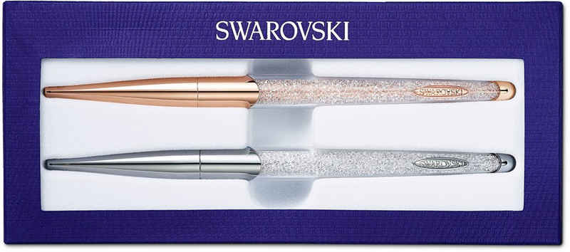 Swarovski Kugelschreiber »Crystalline Nova Set, weiss, Metallmix, 5568760«, (2-tlg)