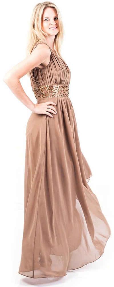 AvaMia Abendkleid »AvaMia-Kleid-2288« Festliches Chiffon Abendkleid, Chiffonkleid, langes one shoulder Kleid