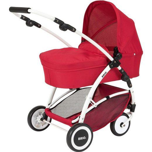 BRIO® Puppenwagen »Puppenwagen Spin rot mit Schwenkrädern«