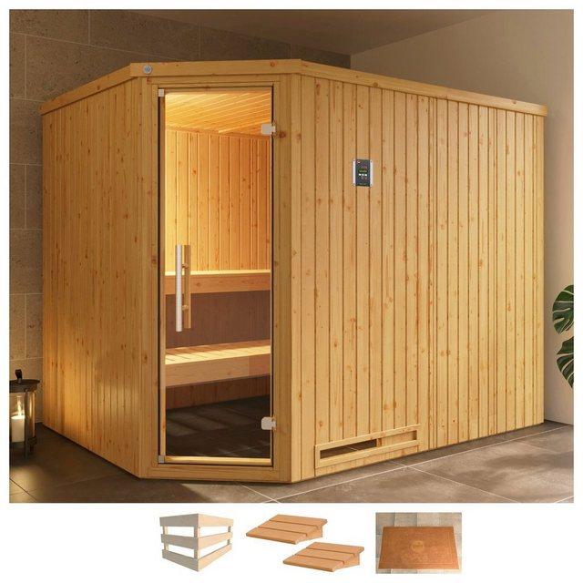 Saunen und Zubehör - weka Sauna »Varberg 4«, BxTxH 244 x 194 x 199 cm, 57 mm, ohne Ofen  - Onlineshop OTTO