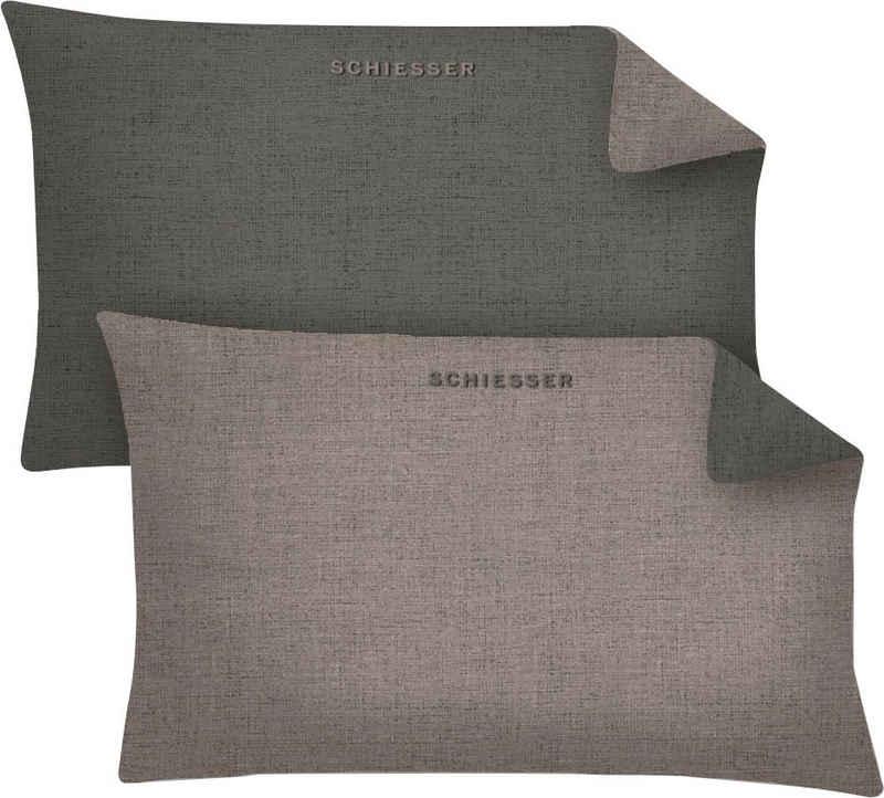 Kissenbezug »Schiesser Doubleface«, Schiesser (2 Stück), in tollen Unifarben