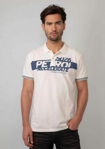 Petrol Industries Poloshirt mit Markenprint