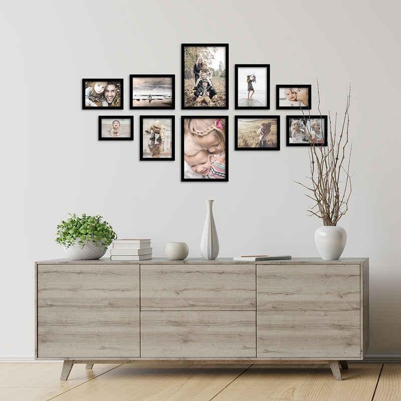 FrameDesign Mende Bilderrahmen-Set »Bilderrahmenset H950 - 10er Set«, für 10 Bilder (10er Bilderrahmen-Set, 10 Stück)