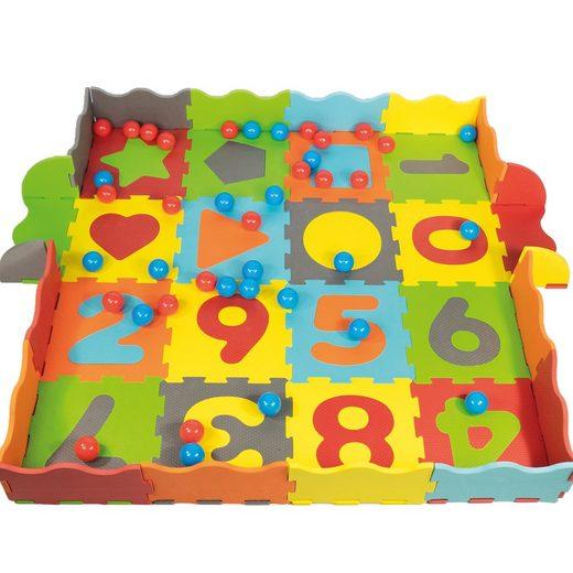 Klee-Kids Bällebad »Schaumstoff Puzzlematte 93 Teilig«, Mit Tasche