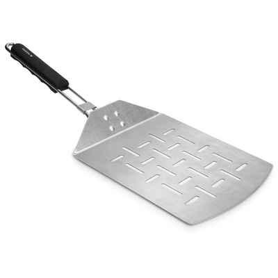 Navaris Backschaufeln, Pizzaschaufel faltbar aus Edelstahl - 46 x 18 cm - Faltbare Schaufel mit extragroßer Fläche für Pizza Brot Flammkuchen - auch für Grill