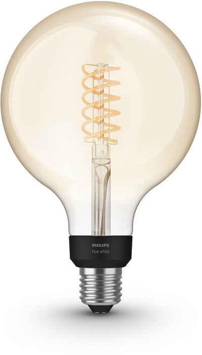 Philips Hue »White Filament Giant Globe« LED-Leuchtmittel, E27, Warmweiß, Smarte E27 LED-Lampen im Vintage-Design, Lichtsteuerung per Bluetooth oder Hue Bridge, Warmweißes Licht, Stufenloses Dimmen