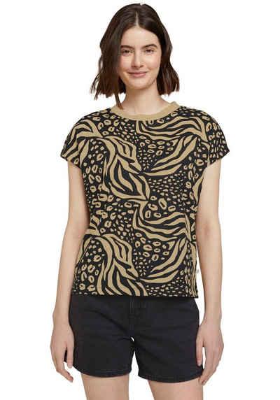 TOM TAILOR Denim Print-Shirt aus Bio-Baumwolle