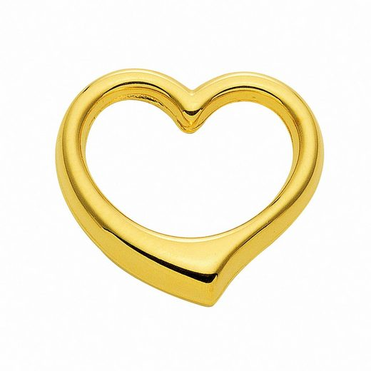 Adelia´s Kette mit Anhänger »585 Gold Anhänger Swingheart - Set mit Halskette«, 585 Gold Goldschmuck für Damen